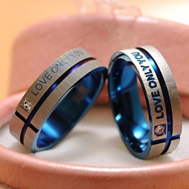 Love Only You Couple Ring -5032