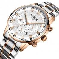 Luxury Watch for Men Waterproof Business Analog Quartz Wristwatch Stainless Steel Chronograph Mens Watches-3199