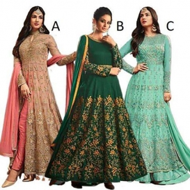 Mahantam Designer Womens Net Mesmerizing Embroidered Worked Heavy Anarkali Suit -1924