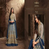 Maisha Maskeen Roush Straight Cut Anarkali Dress-1939
