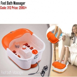 Multifunction Foot and Bath Massager - White and Orange 13