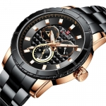 Naviforce 9145 Stainless Chrono Quartz Watch – Gold-3354