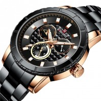 Naviforce 9145 Stainless Chrono Quartz Watch – Gold-3354