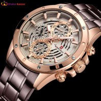NAVIFORCE New Top Brand Quartz Watch Luxury Men Watches Fashion Man Wristwatches Stainless Steel Clock Relogio Masculino Saatler-3291