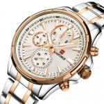 NAVIFORCE RoseGold & Silver Quartz Watch For Men-3292