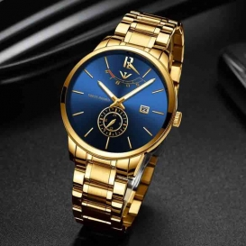 NIBOSI Masculino Relojes Watch - Gold-3203