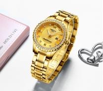 NIBOSI Watch Relogio Feminino Women Watches Quartz Mens Watches Top Brand Luxury Lover Watches Gold Quartz Wristwatch-3201