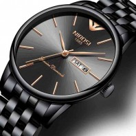 Nibosi luxury brand waterproof business casual watch simple stainless steel classic watch-3181