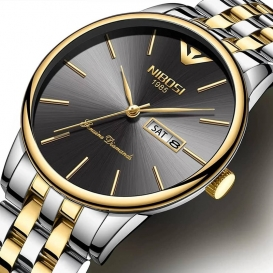 NIBOSI Mens Business Watches Waterproof Casual Dress Wrist Watch Quartz Date Watch-3169