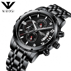 Nibosi NIBOSI Relogio Masculino Men Watches Luxury Famous Top Brand Mens Fashion Casual Dress Watch Military Quartz Wristwatches 3296