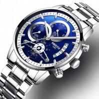 Nibosi Relogio Masculino NIBOSI Luxury Mens Wristwatches Stainless Steel Sport Clock Man Gold Male Watches Top Brand Business Watch -3192