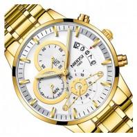 NIBOSI Watch Men Gold Relogio Masculino Quartz Watches Montre Homme Reloj Hombre Waterproof Luxury Brand Business Wristwatch 3341