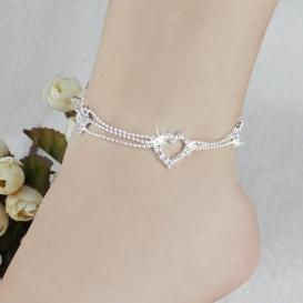 CHARM ANKLETS SILVER PLATED-jw5015