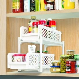 Portable 2-Tier Basket Drawers-430