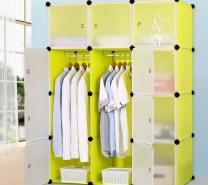 Portable Plastic storage wardrobe-431