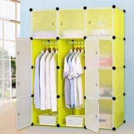 Portable Plastic storage wardrobe-431