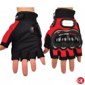 Pro-Biker Motorbike Racing Half Finger Gloves (M/L/XL)- 3541