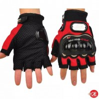 Pro-Biker Motorbike Racing Half Finger Gloves (M/L/XL)- 3541