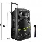 Rechargeable Bluetooth Karaoke Trolley Speaker-2130