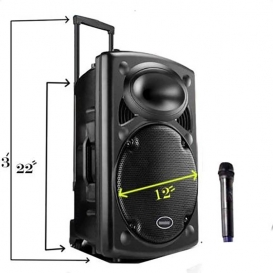 Rechargeable Bluetooth Karaoke Trolley Speaker-2130