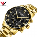 Relogio Masculino NIBOSI Mens Watches Top Brand Luxury Waterproof Stainless Steel Male Clock Dress Famous Business Watch Men-3172