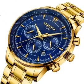 Relogio Masculino NIBOSI Quartz Watches Men Steel Band Men Watches Luxury Brand Waterproof Wrist Watches For Men Brand Saat-3184