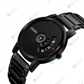 SKMEI Analog Dial Men's Watch-Black-3257