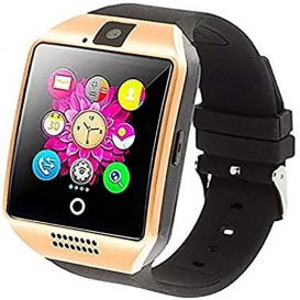 Smart Watch with Camera Ezone Q18 Bluetooth with Sim Card Slot Fitness Gold-3305