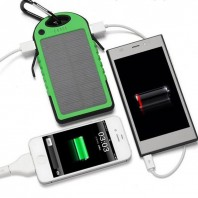 Solar system waterproof power Bank with torch Light-2056