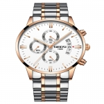 Chronograph Quartz NIBOSI Mens Watch-3170