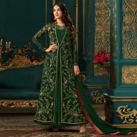 Sonal Chauhan Faux Georgette Floor Length Anarkali Suit-4634