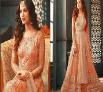 Sonal Chauhan Pastel Net Abaya Style Salwar Suit-1930