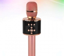 STOBOK Universal Phone Wireless Bluetooth Microphone Portable for Home KTV-Rose Gold-353