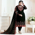 Stylish Embroidered Georgette Bollywood Salwar Suit-1949