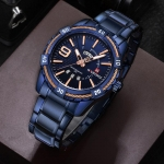 Stylish mens watch water resistant Blue-3006