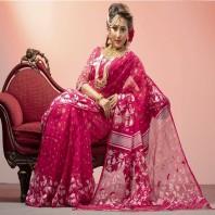Tangail Silk Jamdani Saree 1007