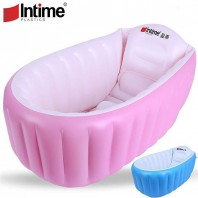 Intime Baby Inflatable Bath Tub (Pink-)-4067
