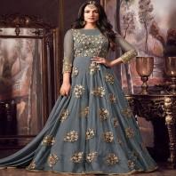 Unstitched Salwar EDH Kameez Synthetic Designer Suit Indian Pakistani-1943