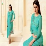 Vinay Tumbaa Bebo Georgette party wear Blue kurti -4653