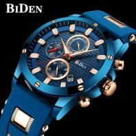 BIDEN Stylish Multifunctional Waterproof Quartz Watch-3111
