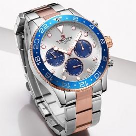 Watch Naviforce Luxury Steel Strap Men! Silver-Pink-3214