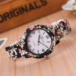 Womens Floral Print Ceramic Watch 3344