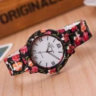 Womens Floral Print Ceramic Watch 3345