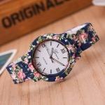 Womens Floral Print Ceramic Watch 3346