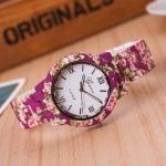 Womens Floral Print Ceramic Watch 3347