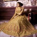 Yellow Bloom Floral Embroidered Anarkali Suit-1901